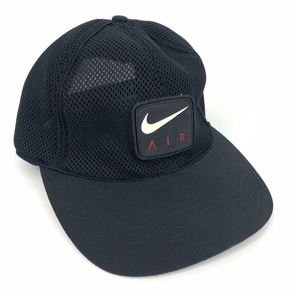 Vintage 90s Nike Air Mesh Snapback Hat Cap Swoosh
